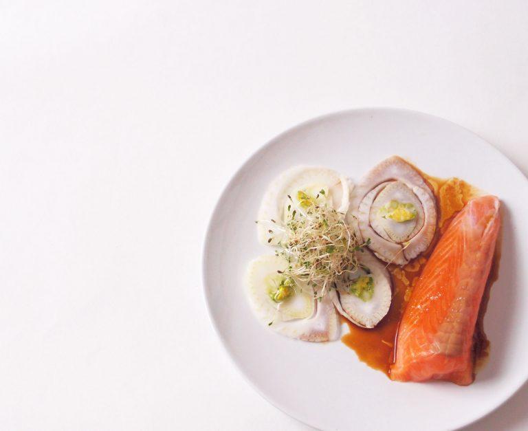 Saumon cru au fenouil
