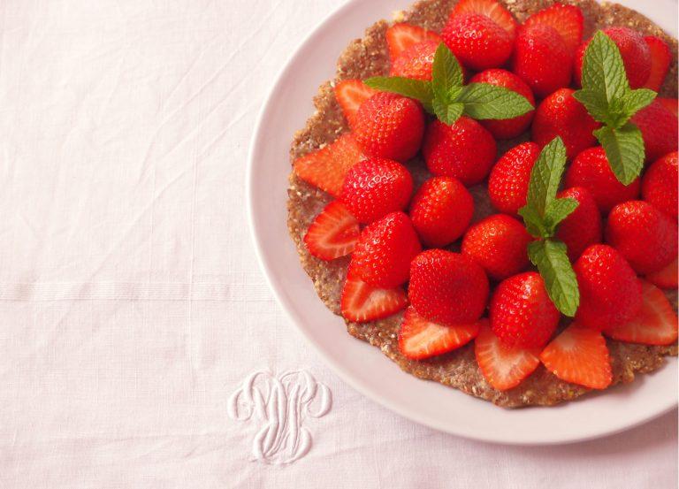 Tarte aux fraises crue